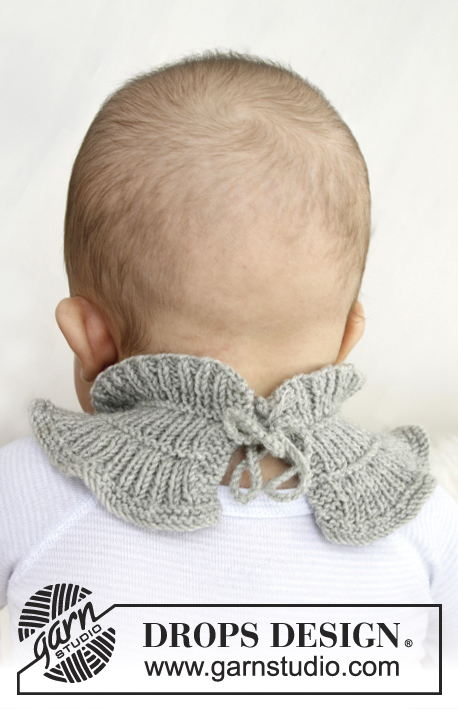 Henrik VIII / DROPS Baby 21-9 - Knitted neck warmer or bib for baby and children in DROPS BabyMerino