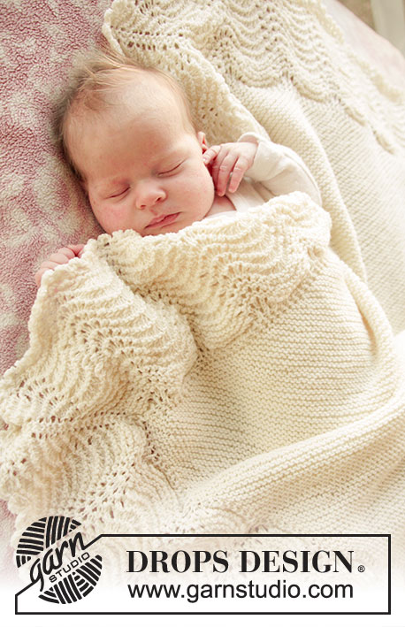 Drops Patterns Knitting : Baby Bliss / DROPS Baby 25-2 - Kraus rechts gestrickte DROPS Decke aus ?Baby ...
