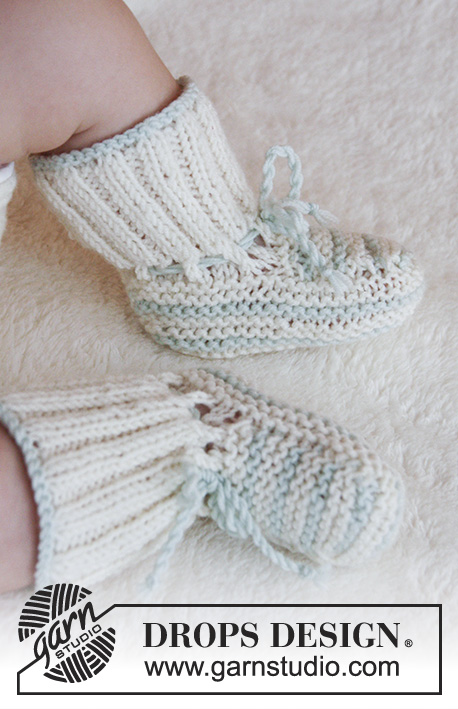 First Impression Booties / DROPS Baby 25-25 - Free knitting patterns ...