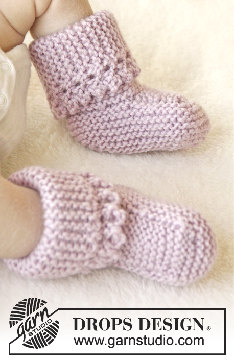 Lullaby Booties / DROPS Baby 25-4 - Free knitting patterns by DROPS ...