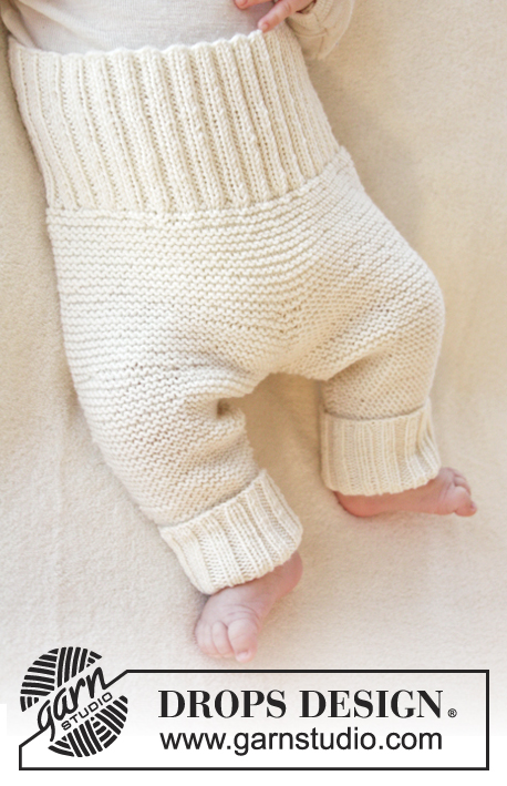 Smarty Pants / DROPS Baby 25-7 - Knitted pants in garter st for baby in DROPS BabyMerino. Size premature – 4 years.