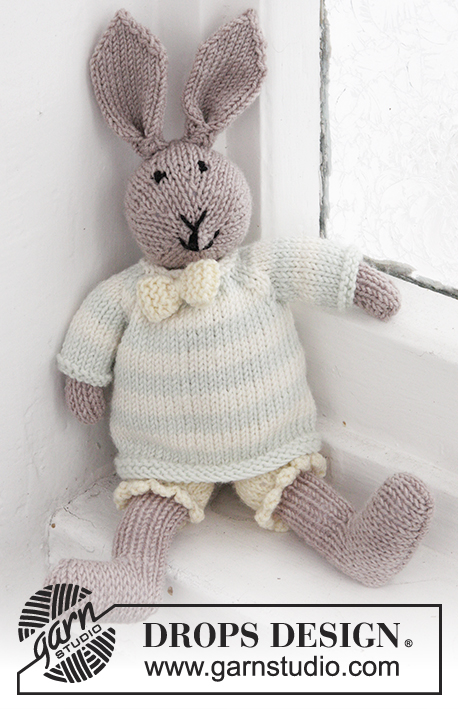 e5679325b76d90 Mr. Bunny   DROPS Baby 25-8 - Free knitting patterns by DROPS Design