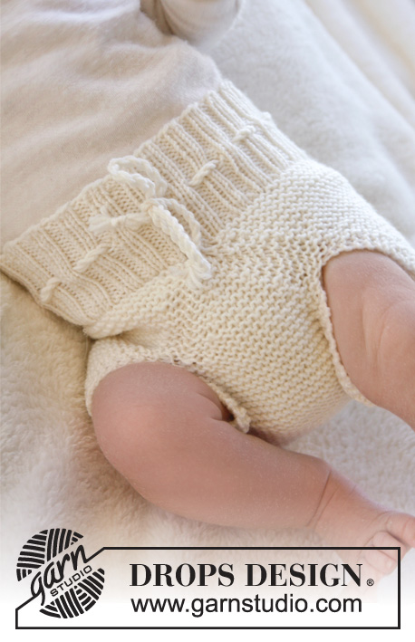 Pampered / DROPS Baby 25-9 - Knitted baby underpants in DROPS BabyMerino. Size premature – 4 years.