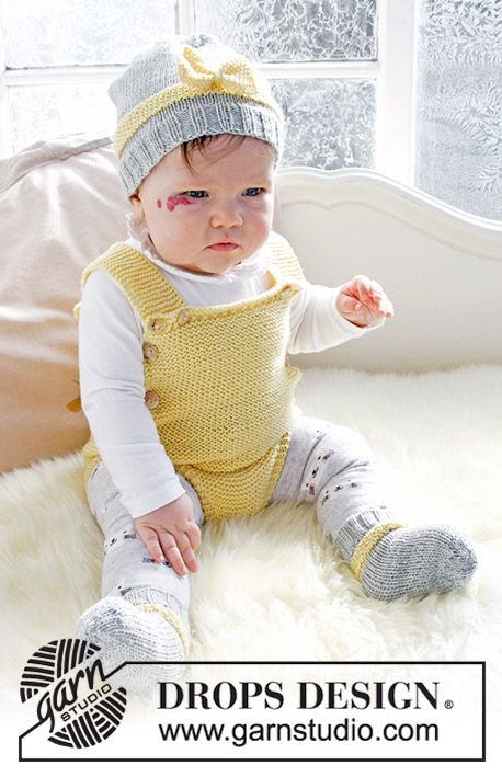 063b8f98ce39 Little Miss Ribbons   DROPS Baby 31-10 - Free knitting patterns by ...