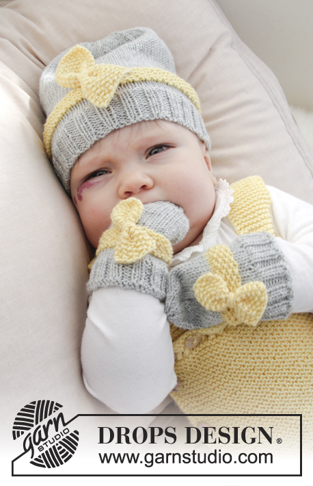 Little Miss Ribbons Mittens / DROPS Baby 31-11 - Patrones de punto ...