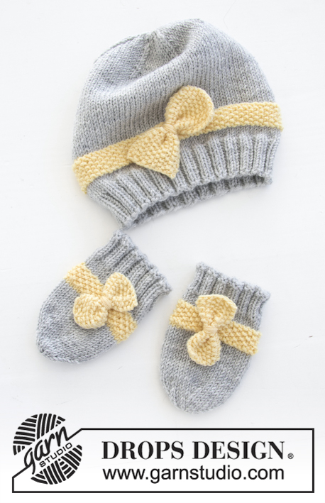 Little Miss Ribbons Mittens Drops Baby 31 11 Free Knitting