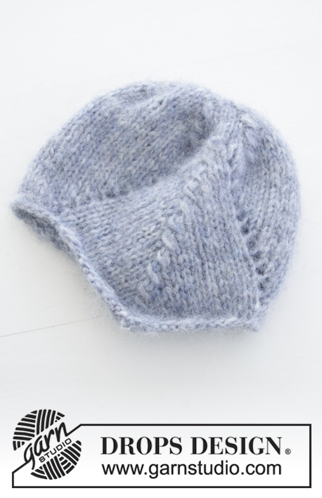 Milian / DROPS Baby 31-22 - Knitted hat with lace pattern for baby. Size premature - 4 years Piece is knitted in DROPS Air.