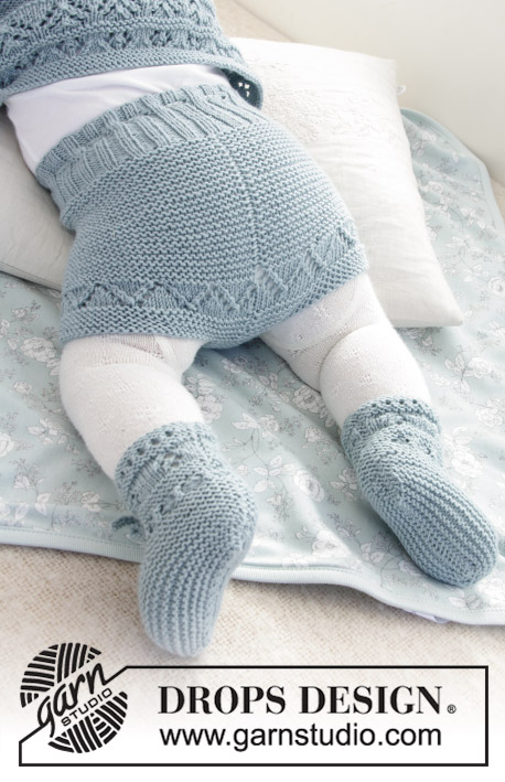 Odeta Pants / DROPS Baby 31-4 - Free knitting patterns by DROPS Design