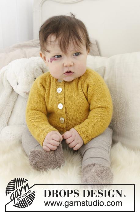 Baby jacke mit raglanarmel stricken
