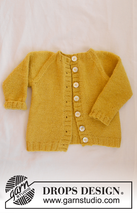 Baby Duck / DROPS Baby 31-9 - The set consists of: Knitted baby jacket with raglan and socks. Sizes premature - 4 years. The piece is worked in DROPS Alpaca.