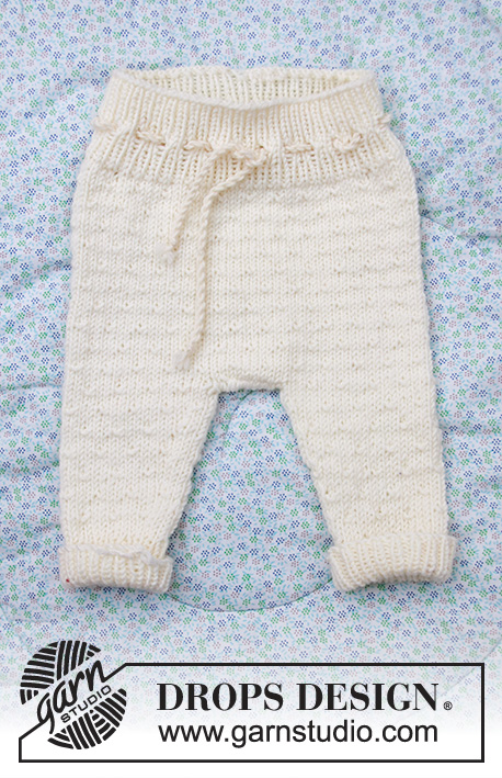 Winter Baby / DROPS Baby 33-12 - Knitted set of trousers and hat for baby in DROPS Merino Extra Fine. Size: Premature to 4 years