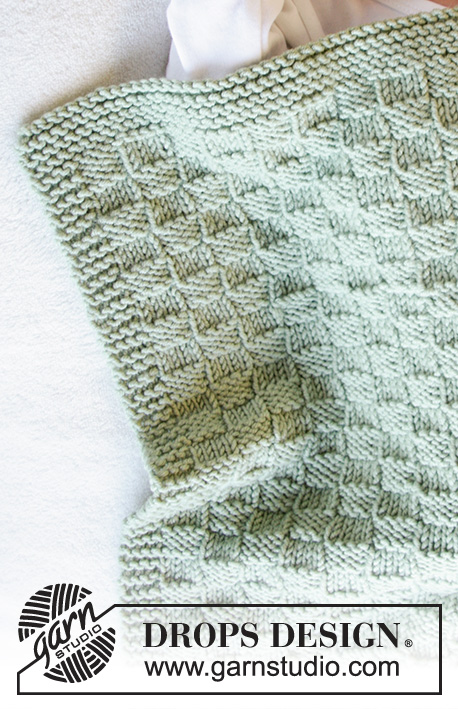 Little Things / DROPS Baby 33-39 - Knitted blanket with texture for baby. Piece is knitted in DROPS Merino Extra Fine.