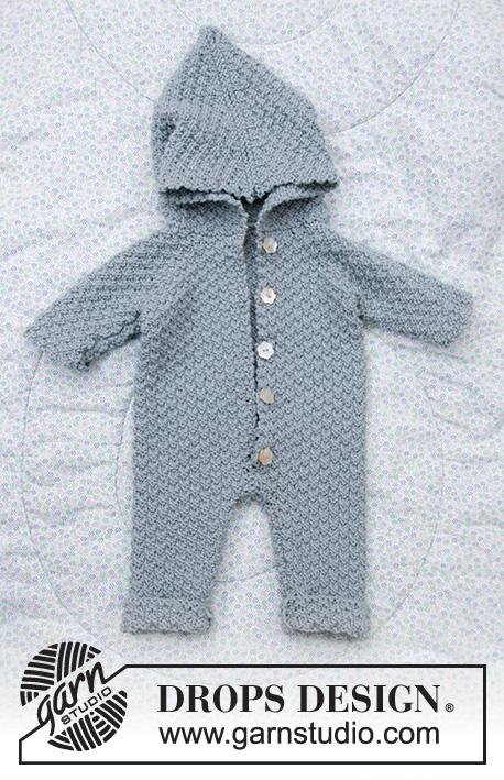 strikket sparkedragt til baby
