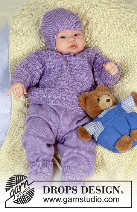 Rocking in Lavender / DROPS Baby 4-19 - Kostenlose Strickanleitungen ...