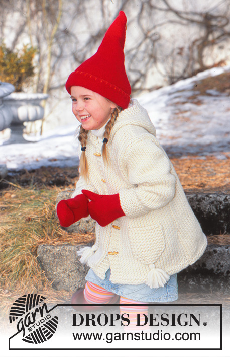 """HAT 6 SIZES 20/"""" 30/"""" KNITTING PATTERN CHUNKY KNIT JACKET COLLARED OR HOOD"""