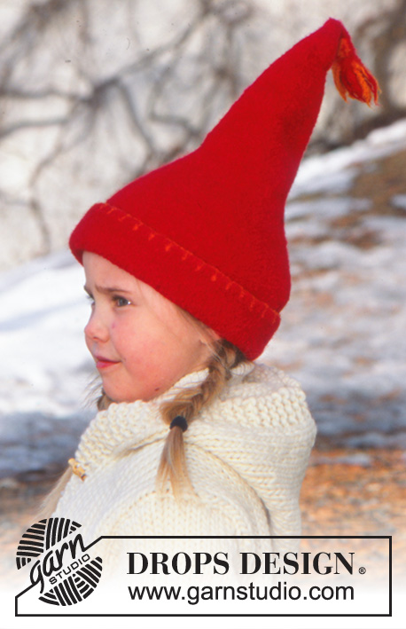 Elf Warmers Gloves / DROPS Children 12-51 - Knitted and felted Christmas hat and felted mittens in DROPS Alaska