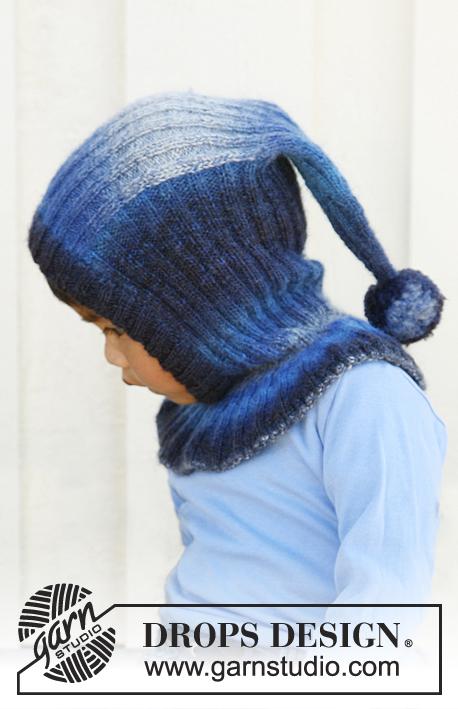 Winter Jolly   DROPS Children 22-38 - Knitted balaclava hat in DROPS  Delight cb12a78a30e
