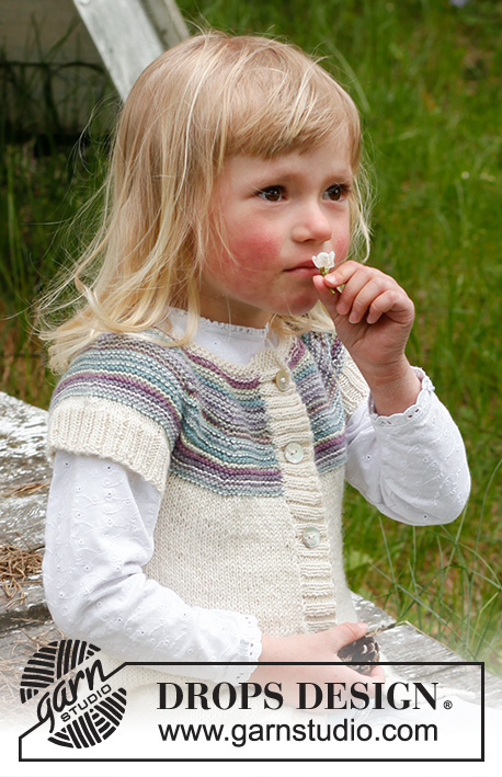 Dear Prudence / DROPS Children 23-10 - Knitted cardigan with round yoke in DROPS BabyAlpaca Silk. Size children 3 to 12 years.