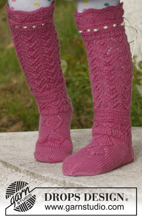 Princess socks / DROPS Children 23-45 - Modèles tricot gratuits de DROPS Design