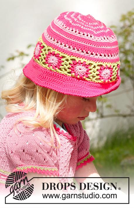 Sweet berries hat / DROPS Children 23-48 - Patrones de ganchillo ...