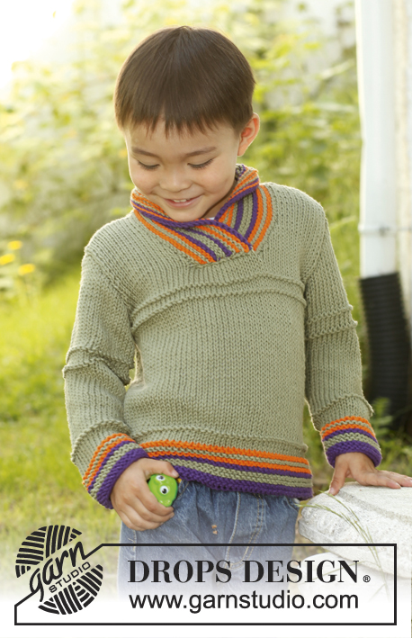 Max / DROPS Children 23-51 - Knitted DROPS jumper in Paris. Size 3 - 12 years.