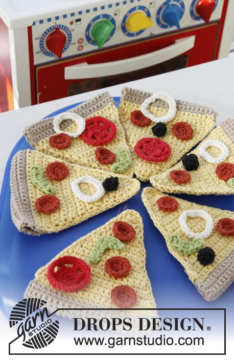 Pizza Party / DROPS Children 24-44 - Gratis haakpatronen van DROPS Design