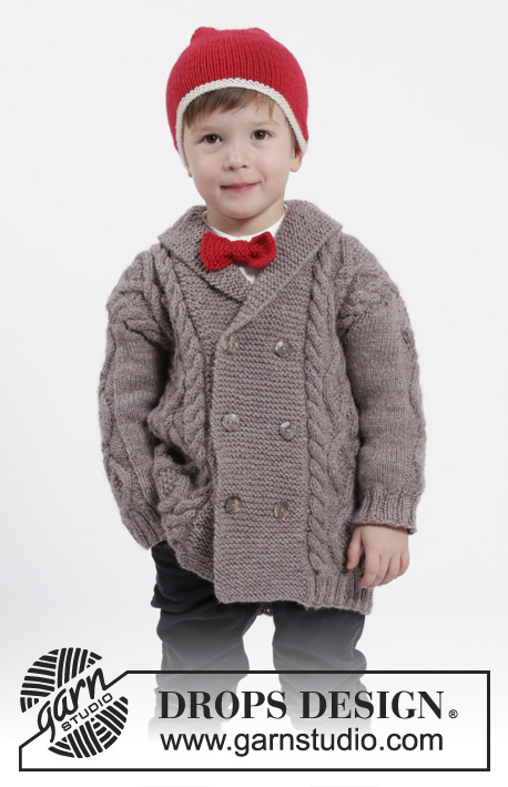 "Baby Toddler Cabled Cardigan V//Round 16-26/"" 0-7 Years DK Knitting Pattern"