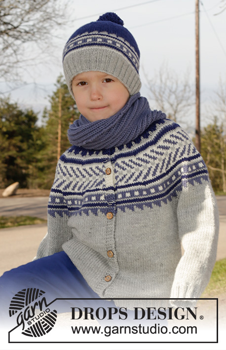 bfd360fa Little Adventure Jacket / DROPS Children 27-31 - Free knitting patterns by  DROPS Design