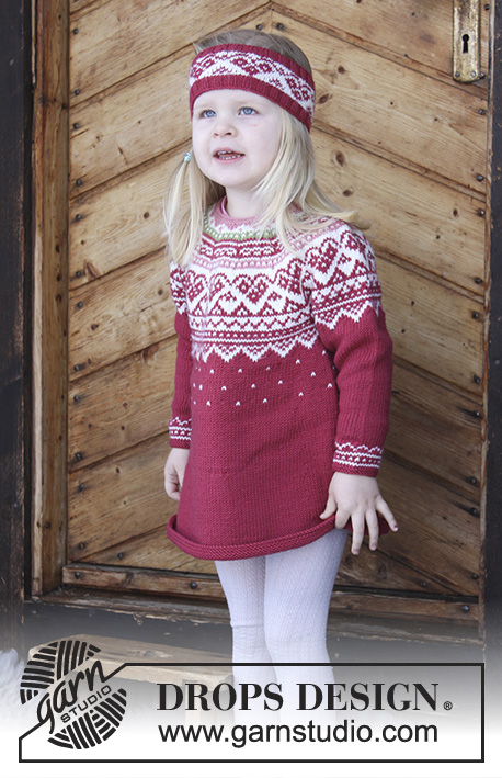 Visby Tunic Drops Children 30 11 Free Knitting Patterns By Drops