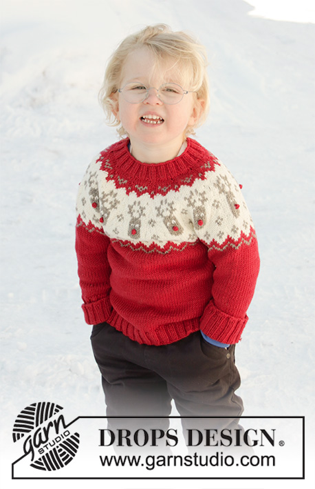 Little Red Nose / DROPS Children 32-10 - Free knitting patterns by DROPS Design