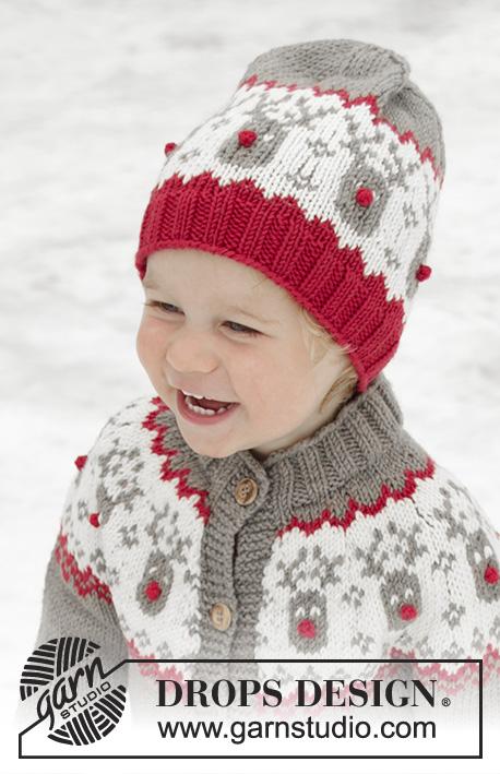 Run Run Rudolph Hat Drops Children 32 4 Free Knitting Patterns