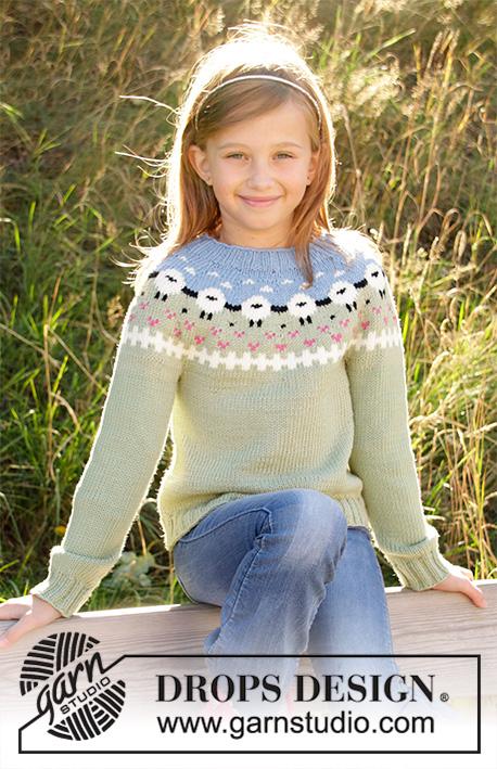 d600fc747 Lamb Dance Sweater / DROPS Children 34-3 - Patrones de punto gratuitos por  DROPS Design