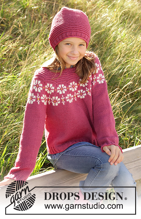c4279cc69 Daisy Delight   DROPS Children 34-7 - Free knitting patterns by ...