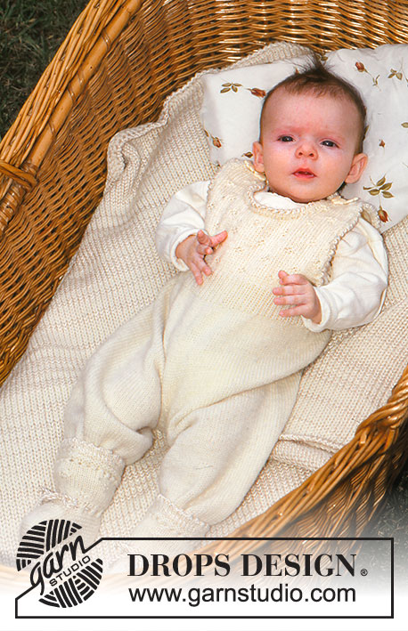 DROPS Children 9-25 - Baby set in BabyMerino and Cotton Viscose