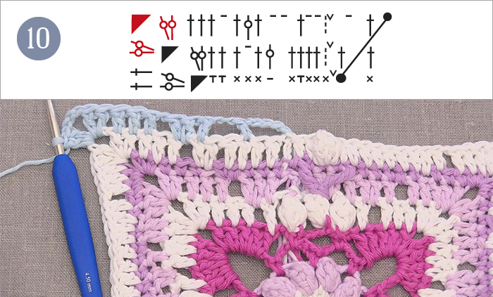 Spring lane drops along clue 5 round and round work 1 treble crochet in each of the next 3 treble crochets 1 chain stitch skip 1 stitch 1 treble crochet inaround each of the next 3 treble crochets ccuart Image collections