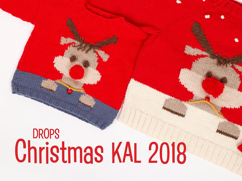 DROPS Christmas KAL 2018 - jõulukampsini kooskudumine Dropsalong5