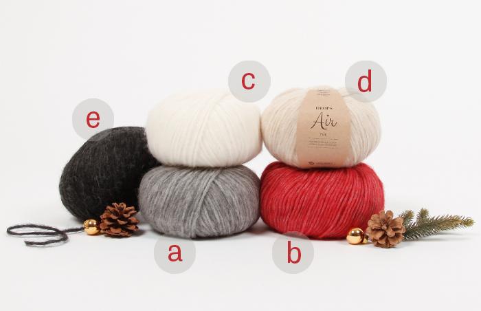 DROPS Christmas KAL 2019 - jõulukampsuni kooskudumine Dropsalong6-materials2