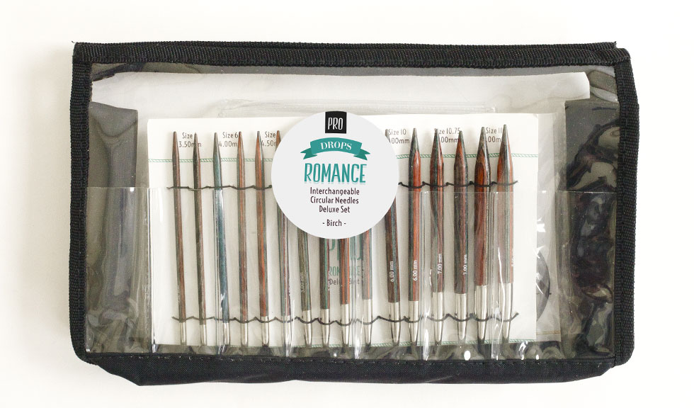 DROPS interchangeable circular knitting needles compatible with Knit Pro