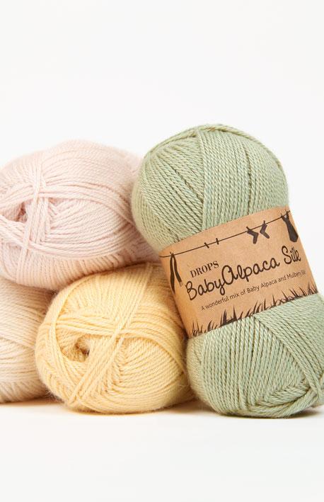 2c05b4c41 DROPS BabyAlpaca Silk - A wonderful mix of baby alpaca and mulberry silk