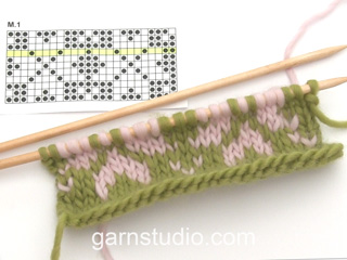 Fair Isle Jacquard 2 Colores Método Inglés Tutorial Video