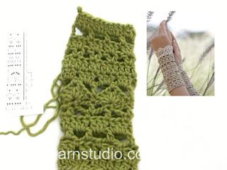 Comment Crocheter Les Manchettes Drops 167 9 Tutorial Video