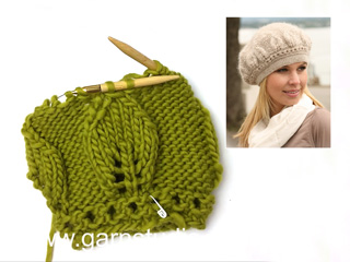 6c9982b9196 How to knit the leaf pattern in DROPS 123-35 (Tutorial Video)