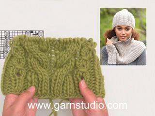 Comment tricoter A.3 pour le bonnet avec torsades DROPS 173-21 (Tutorial  Video) 104ece8e5cd