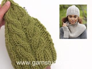 Comment tricoter A.4 et A.5 du bonnet avec torsades DROPS 173-21 (Tutorial  Video) b95baae8a75
