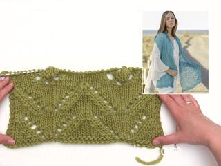 9f4d2eafd5f5 Comment tricoter le point ajouré de l écharpe DROPS 177-30 (Tutorial Video)