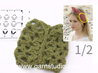 Hoe U De Hoofdband Haakt In Drops 190 7 Tutorial Video