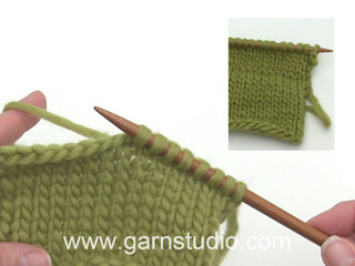 How to pick up stitches along edge (Tutorial Video)
