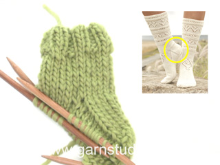 How knit a heel on a sock (basic method) (Tutorial Video)
